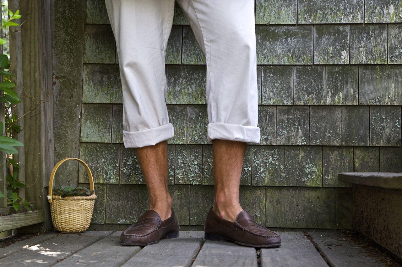 jay butler cromwell penny loafer brown ack basket