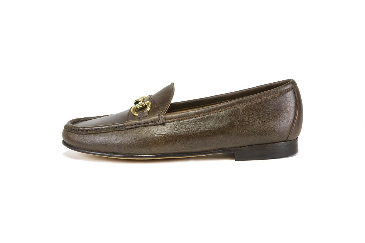 jay butler brown full grain leather bit loafer side sample