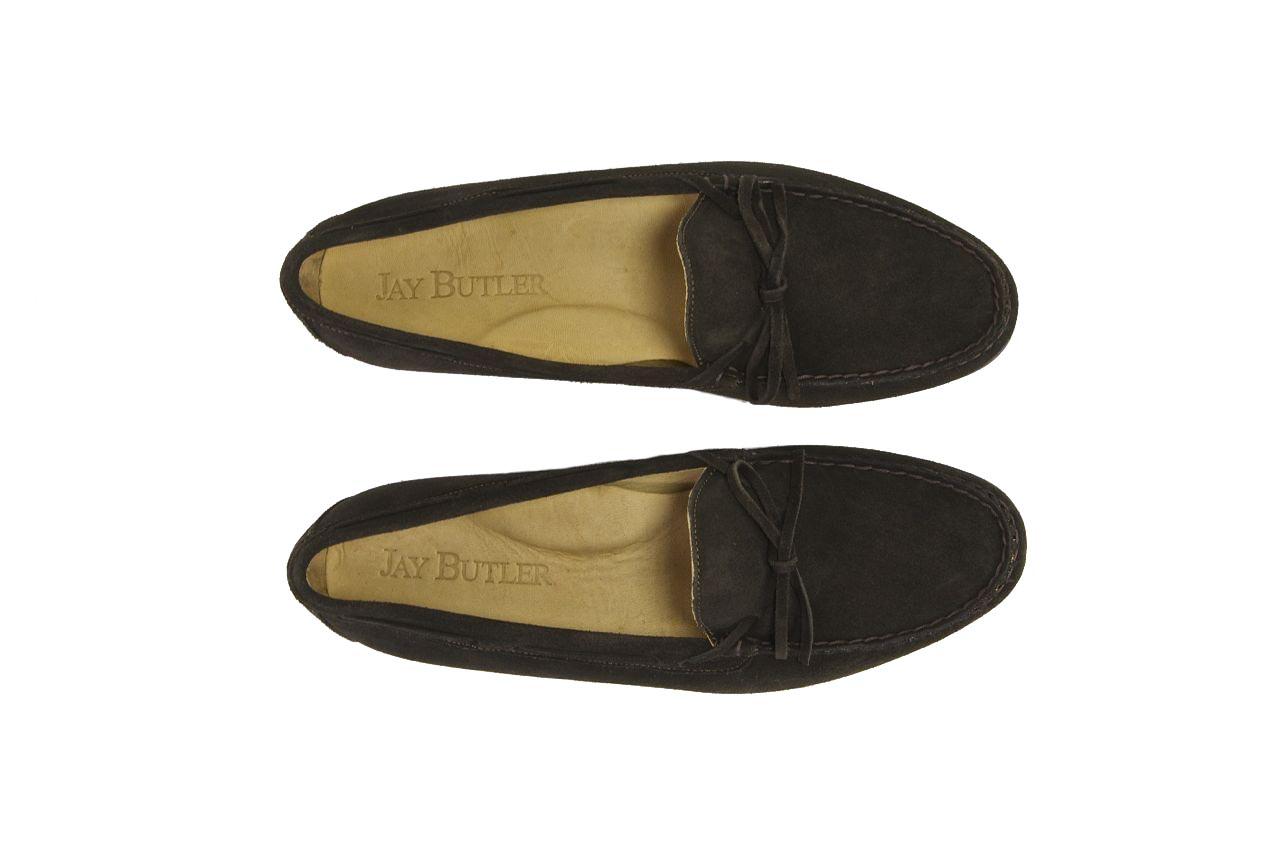 jay butler brown suede tie loafer top sample