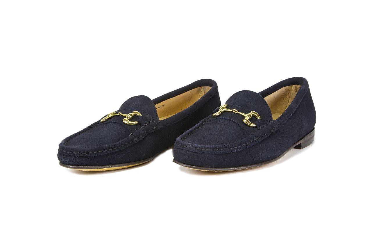 jay butler navy blue suede bit loafer sample