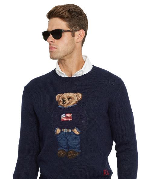 rl flag bear sweater