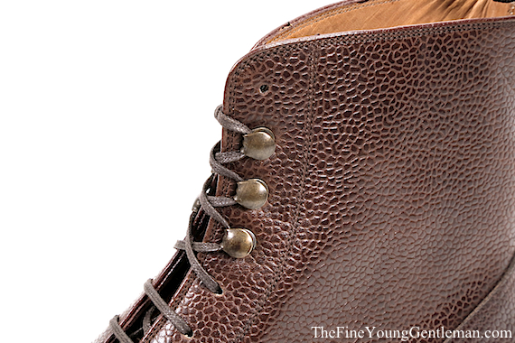 cobbler union pebble grain leather