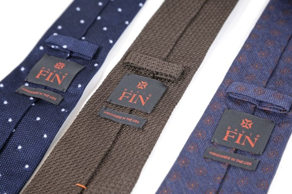 david fin ties label and keeper
