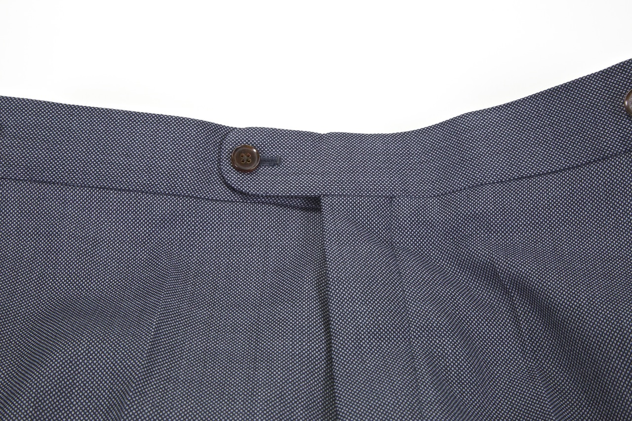 black lapel button waistband