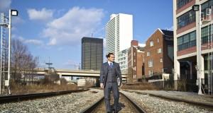 black lapel grey birdseye 3 piece suit review