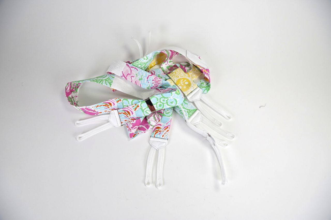 lilly pulitzer multi state patchwork fabric suspenders