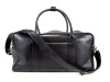 jay butler black leather duffel bag with strap