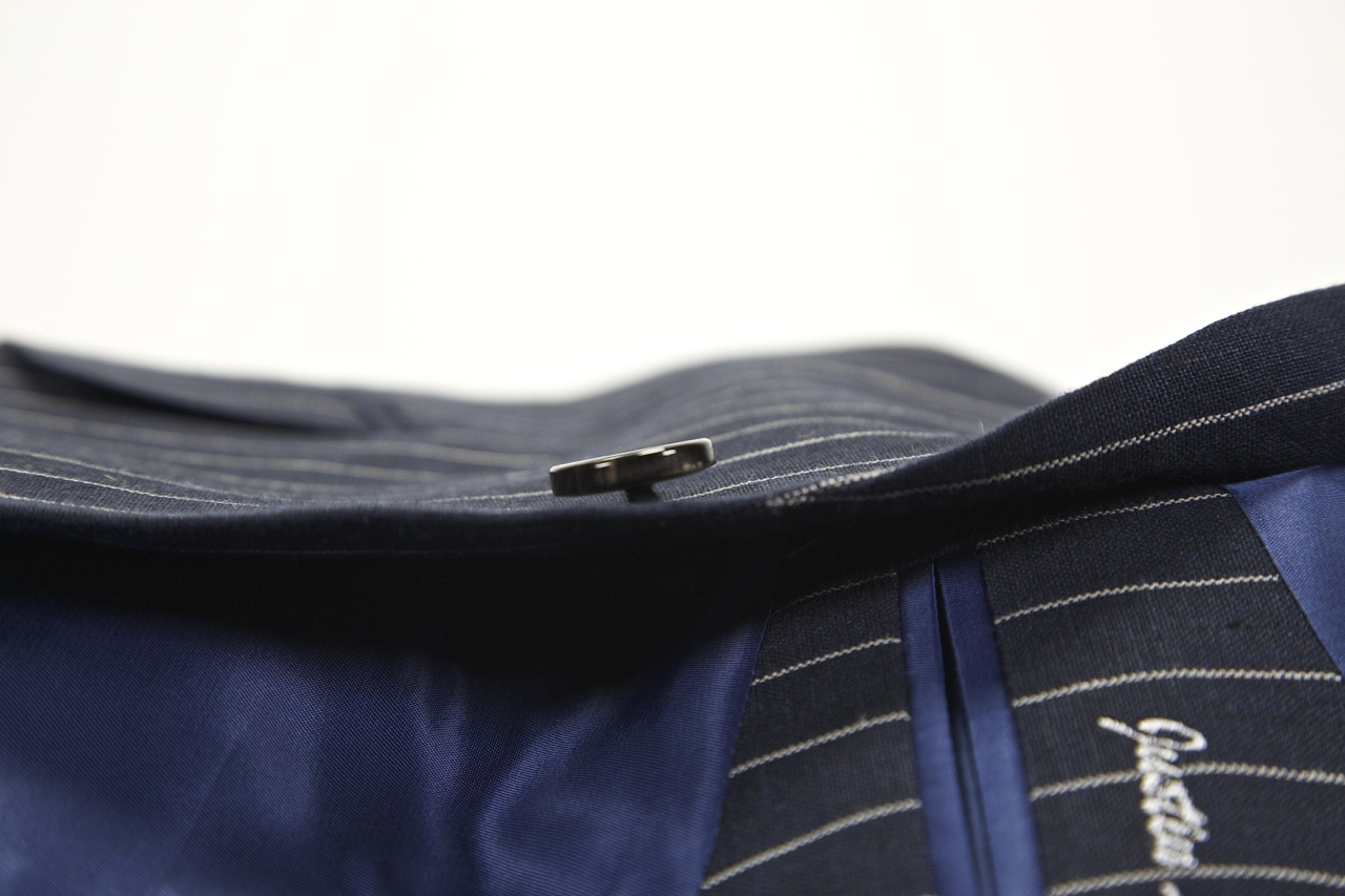 Indochino button shanking