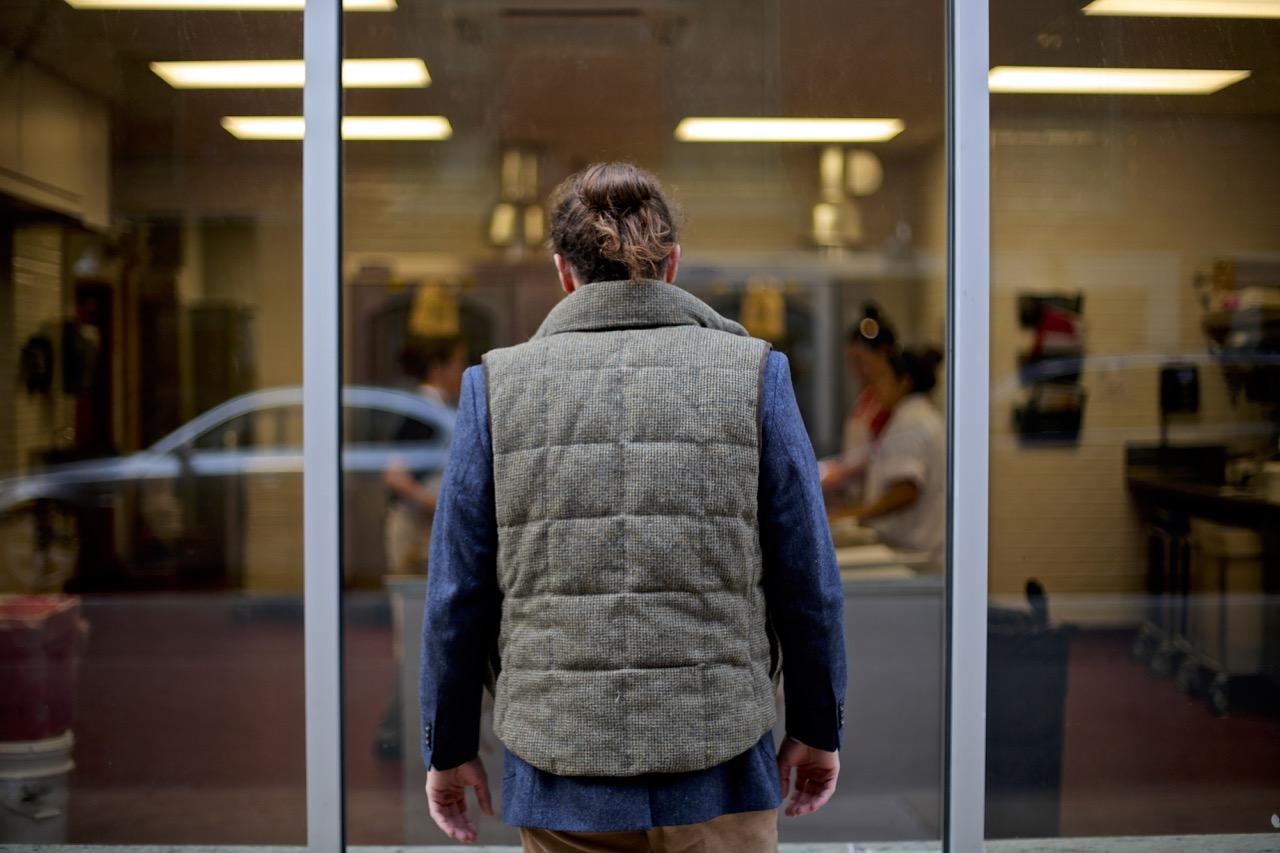 tweed vest and tweed jacket