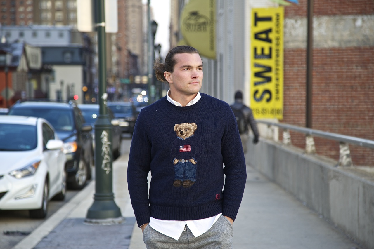 ralph lauren polo bear sweater with sweatpants