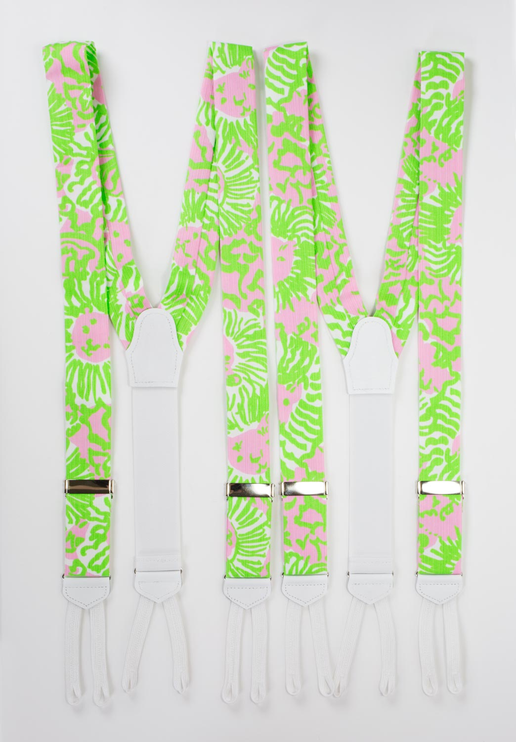 cabana pink sunrise lillly pulitzer suspenders