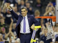 jay wright cutting the net