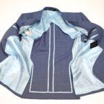 black lapel custom unlined jacket