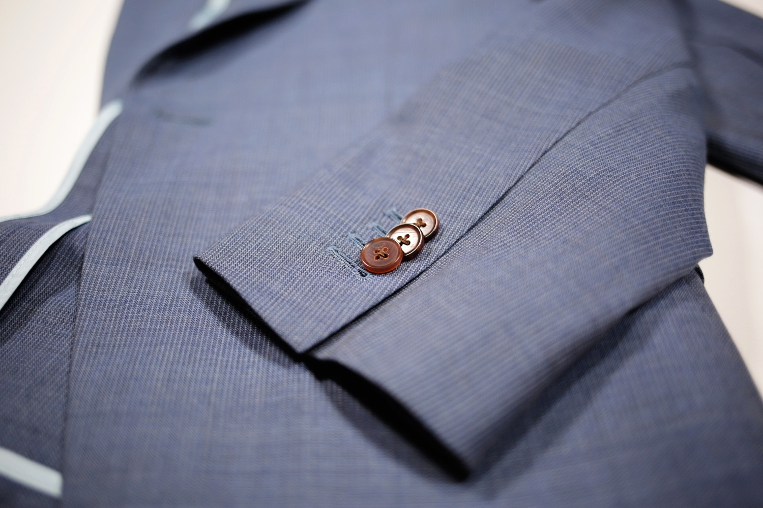 black lapel custom fresco suit