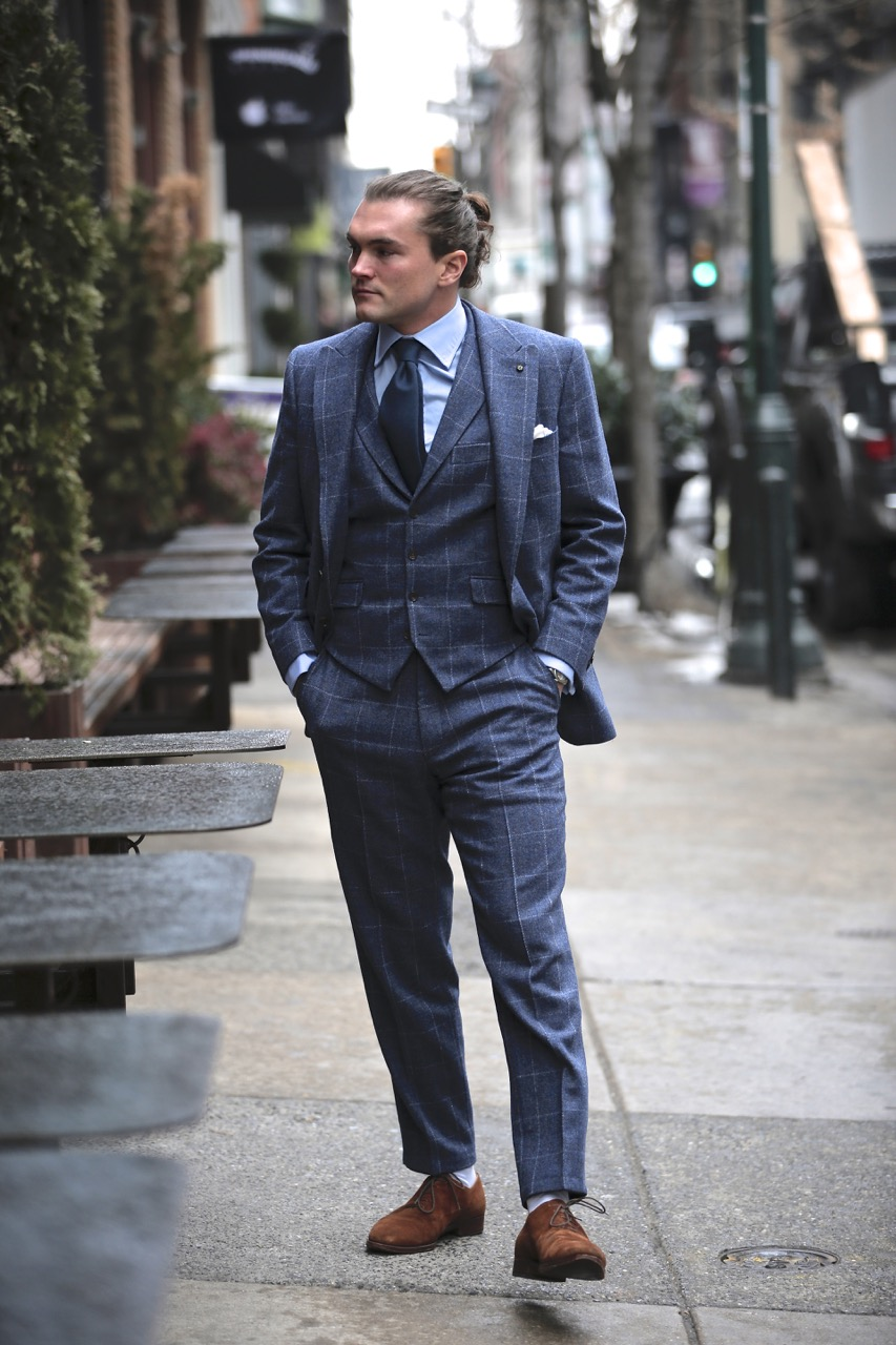 how-to-wear-a-blue-shetland-tweed-suit
