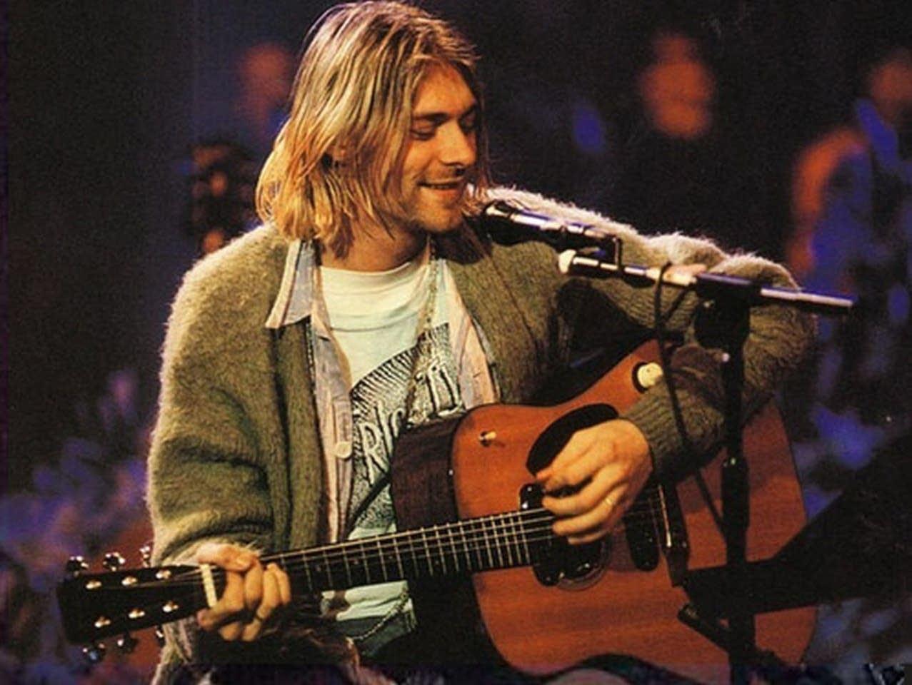 kurt cobain heavy cardigan unplugged