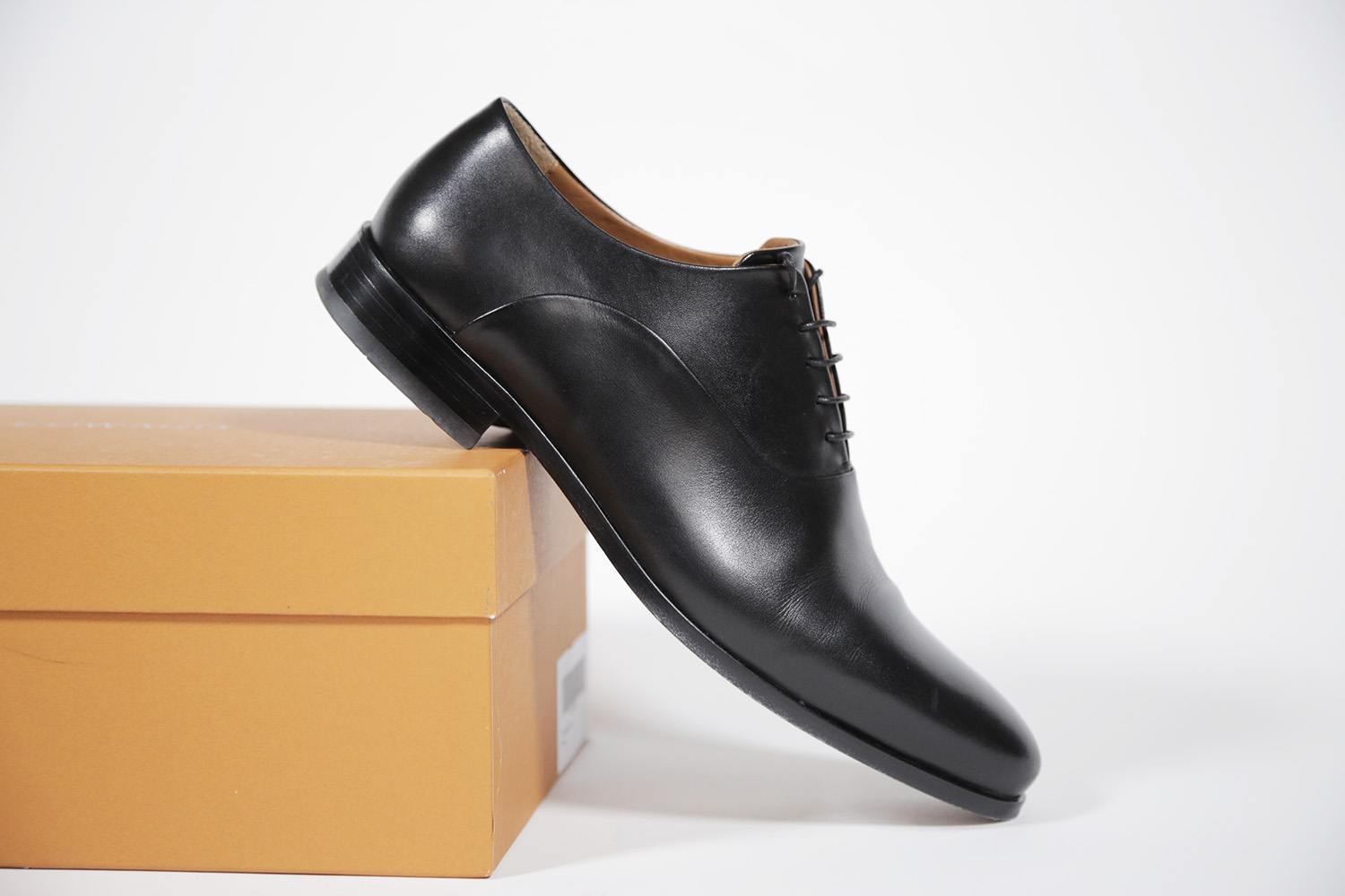 owen edward black oxford shoe review box