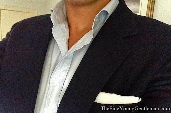 white linen pocket square