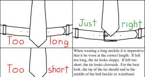 correct mens tie length