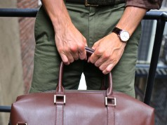 benchmark bags brown leather duffel bag review